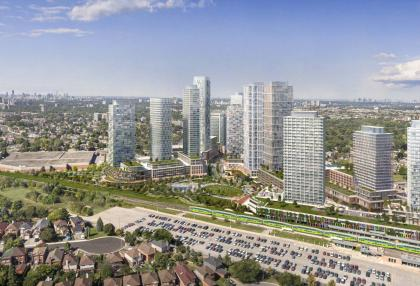 Artists' impression of the new Scarborough Junction development at Danforth and St Clair Ave E