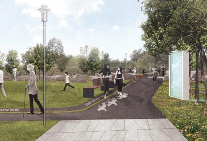 Rendering of option for the park at MacPherson Avenue and Davenport Road. (DTAH)