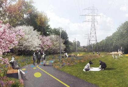 Artistic rendering of Geary Avenue Park Expansion concept (DTAH)