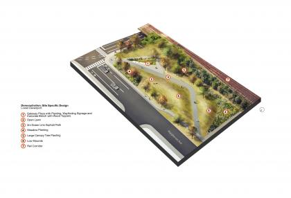 Artist's rendering of option for the new park at MacPherson Avenue and Davenport Road. (DTAH)